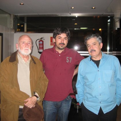 "With Fernando Chinarro and Carlos Iglesias. Documentary film ""21x12"" by Moisés Alvarez"